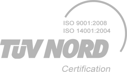 TUV - ISO 9001:2008, ISO 14001:2004